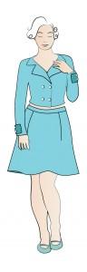 Dress for semi-straight body shape