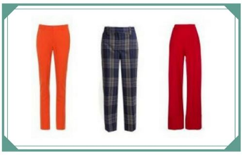 Different trouser shapes