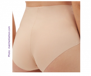 Nude seamless knickers made by Commando