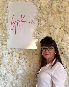 Claire Butler The Style Expert , Gok Wan, White Rose Wall